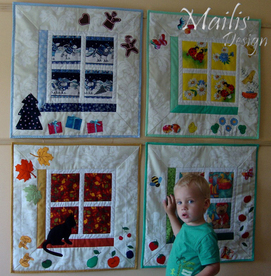 baby quilt, wallhanging, patchwork